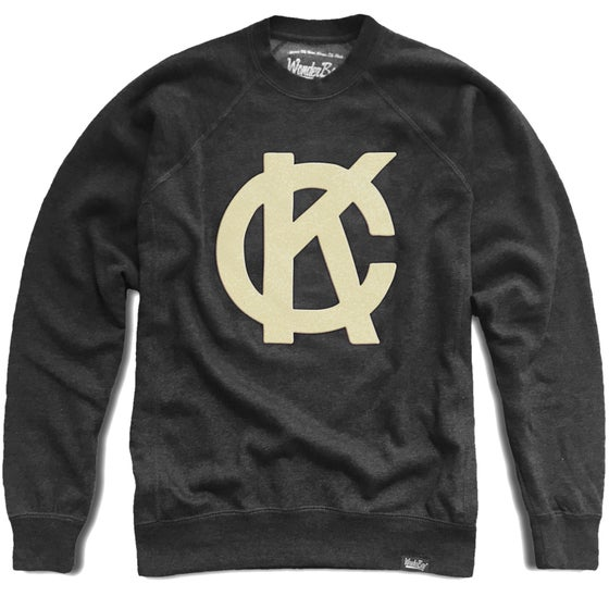 Image of Felt KC Monogram Crewneck Fleece | Charcoal