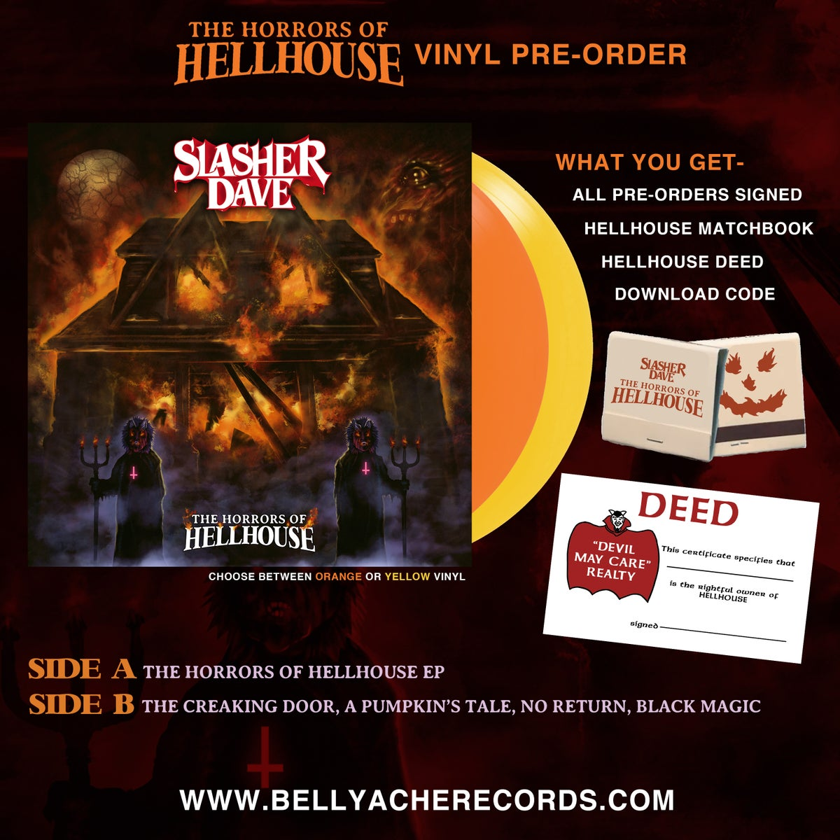 Image of Slasher Dave - The Horrors Of Hellhouse - LP  ***NOW SHIPPING***