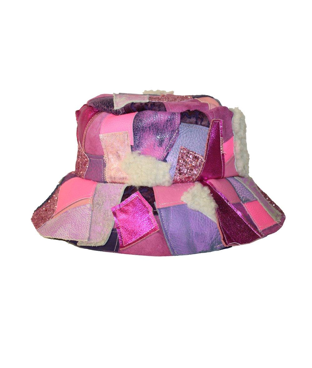 Image of LEATHER BUCKET HAT (HUBBA BUBBA)