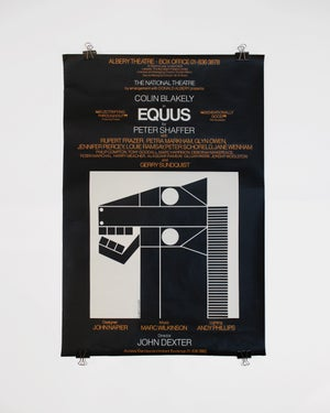 Original Lithograph Poster for the EQUUS at Albery Theatre, London by Gilbert Lesser ca. 1976