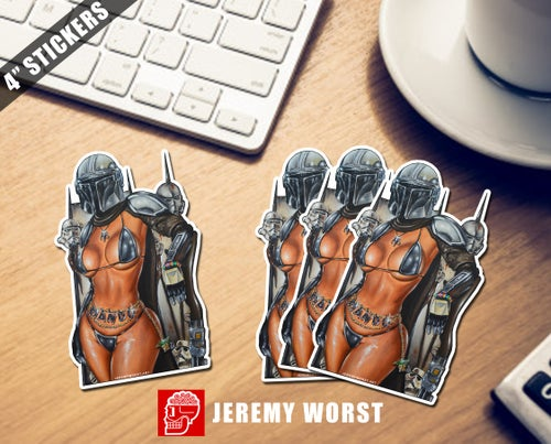 "Image of 4"" Stickers by Jeremy Worst Star Wars and More"