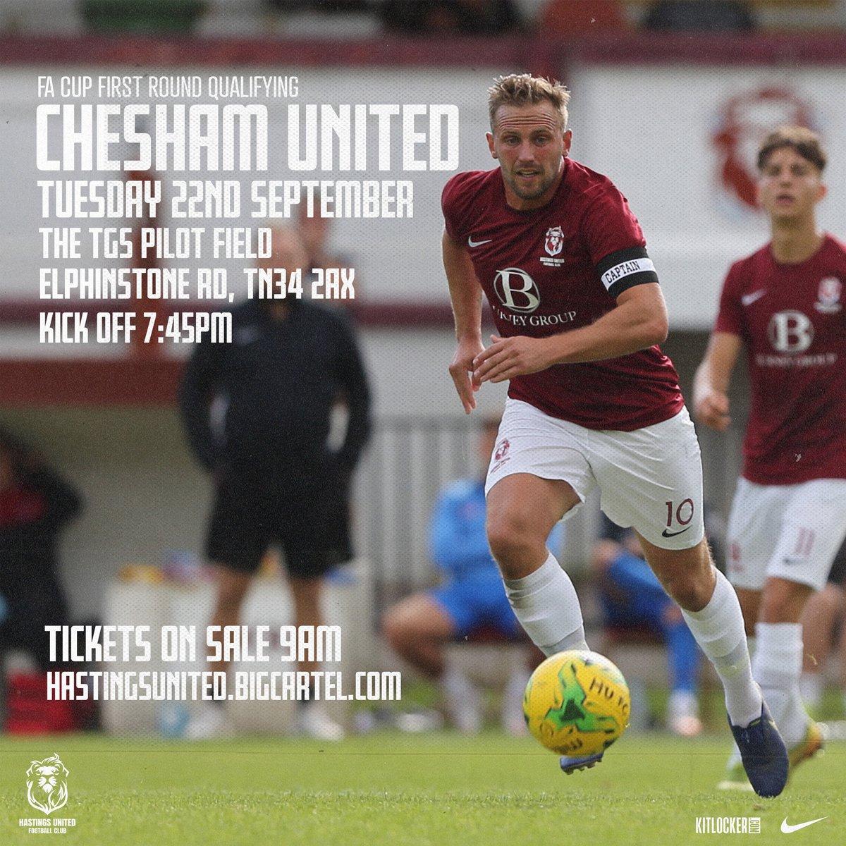 22nd Sept | Chesham United | FA Cup