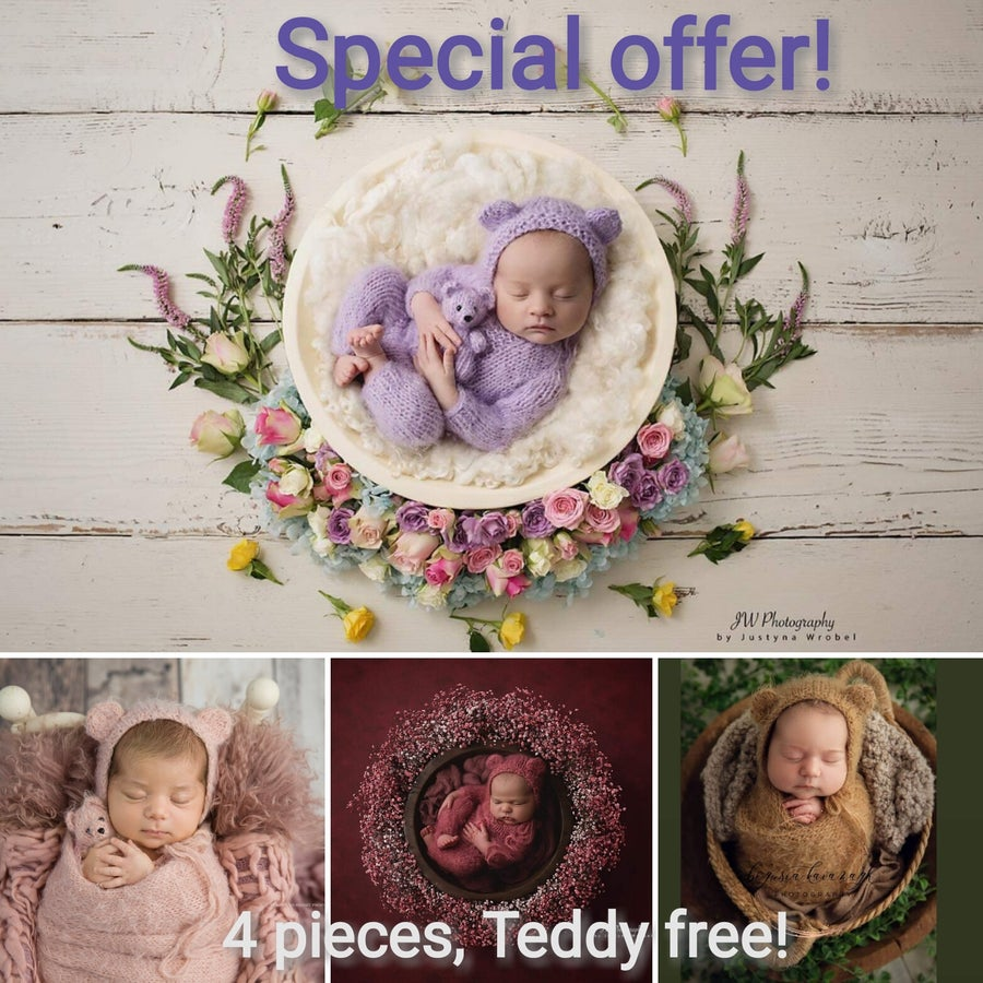 Image of Special offer! 4 pieces! Teddy bear free! Limited offer!