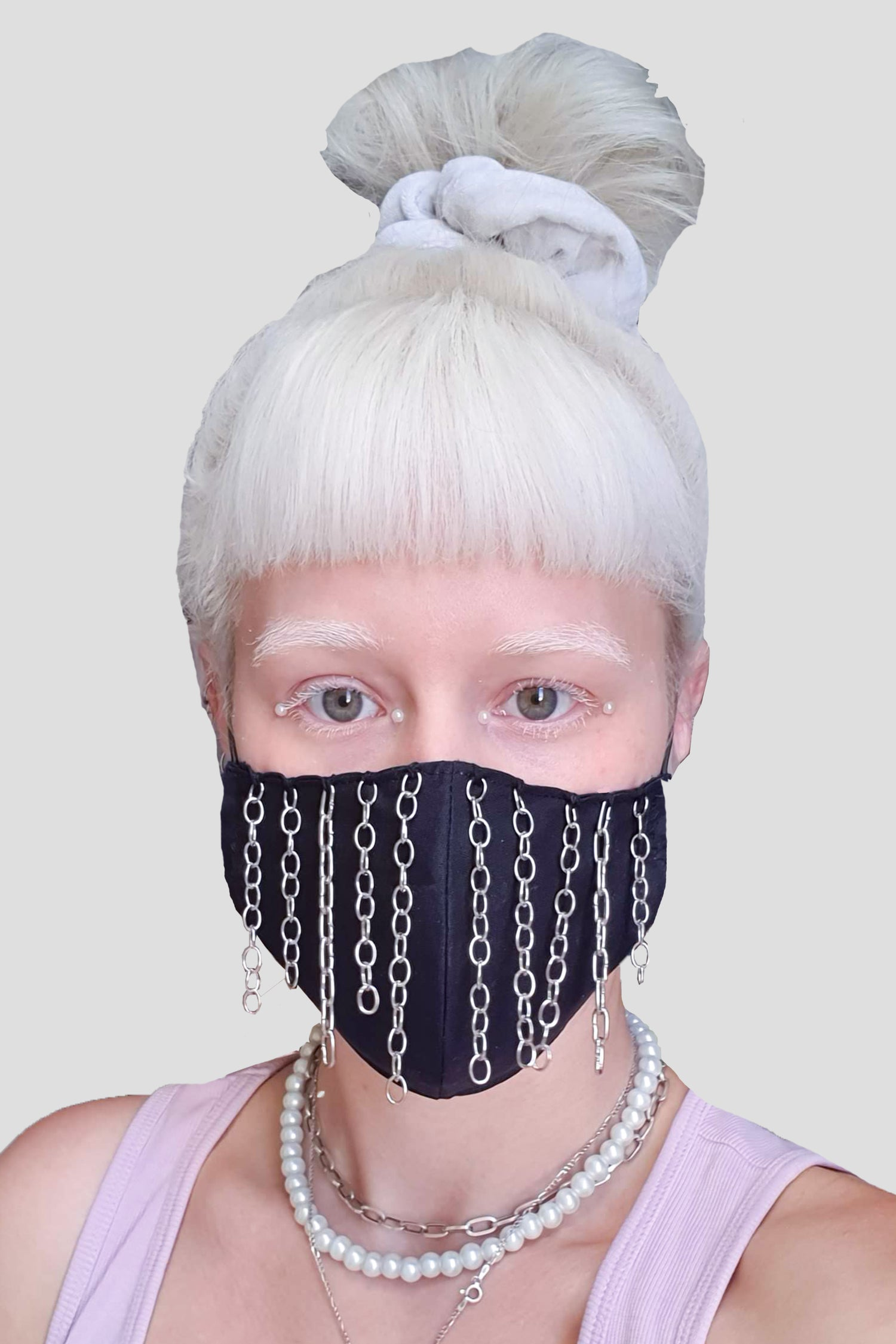 Image of Chain rain face mask