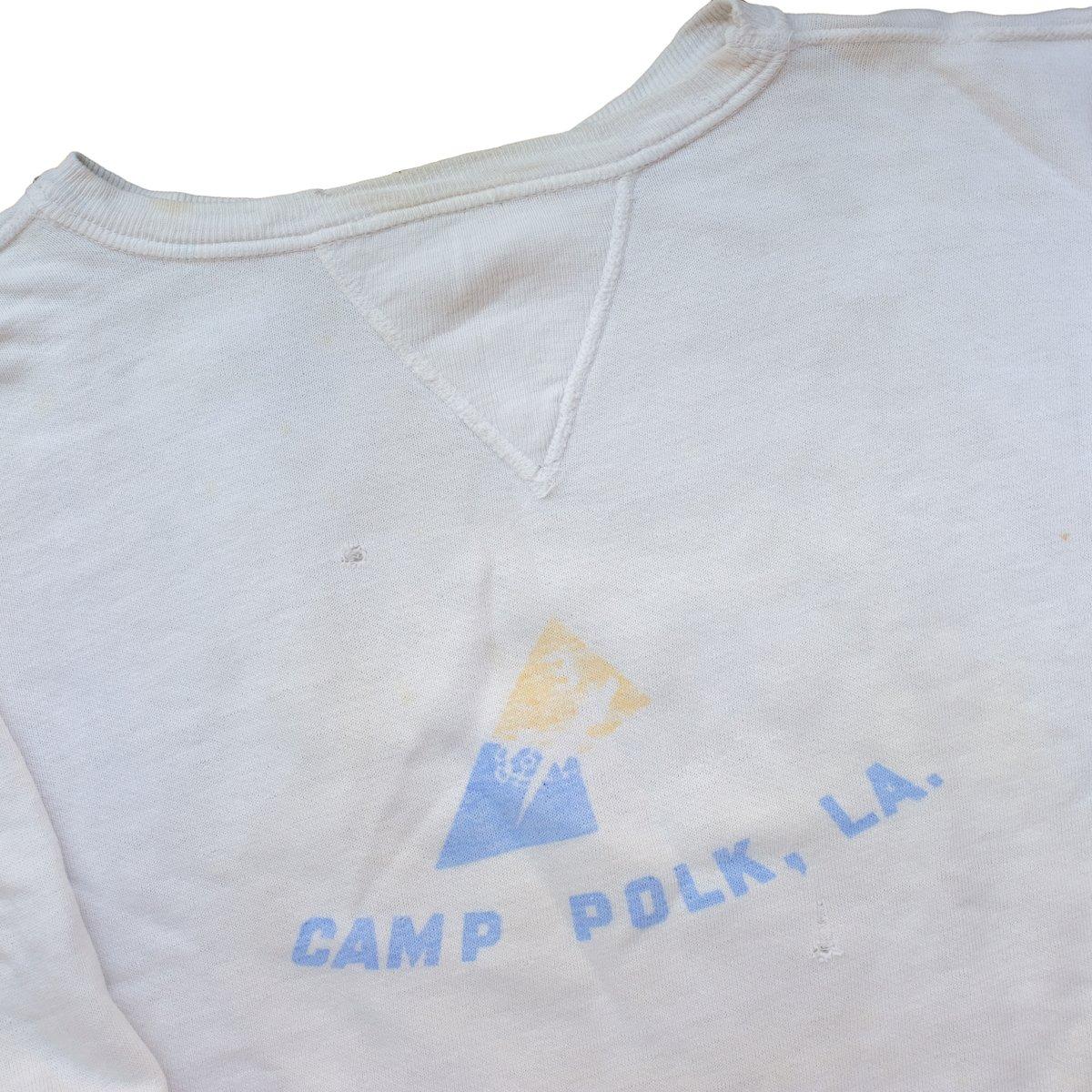 Image of 1950's Velva Sheen Camp Polk U.S. Army Sweatshirt