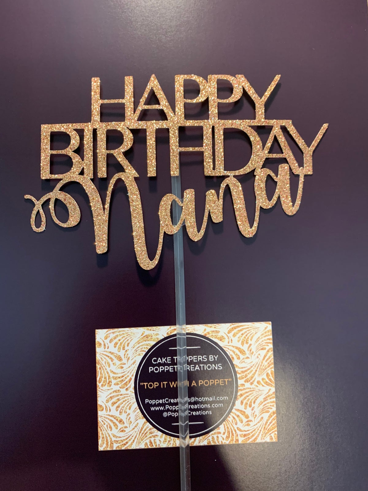 Image of Happy Birthday (name) in mixed font