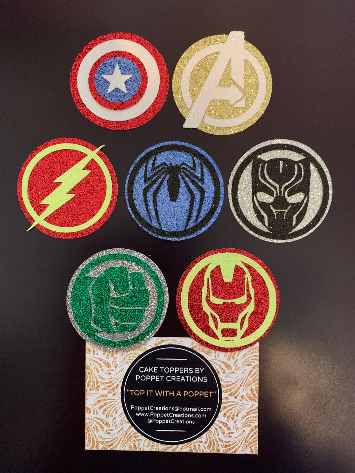 Image of Superhero mini toppers (set of 6)