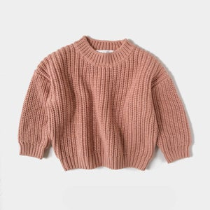 Image of Kids of April Chunky Sweater Terracotta