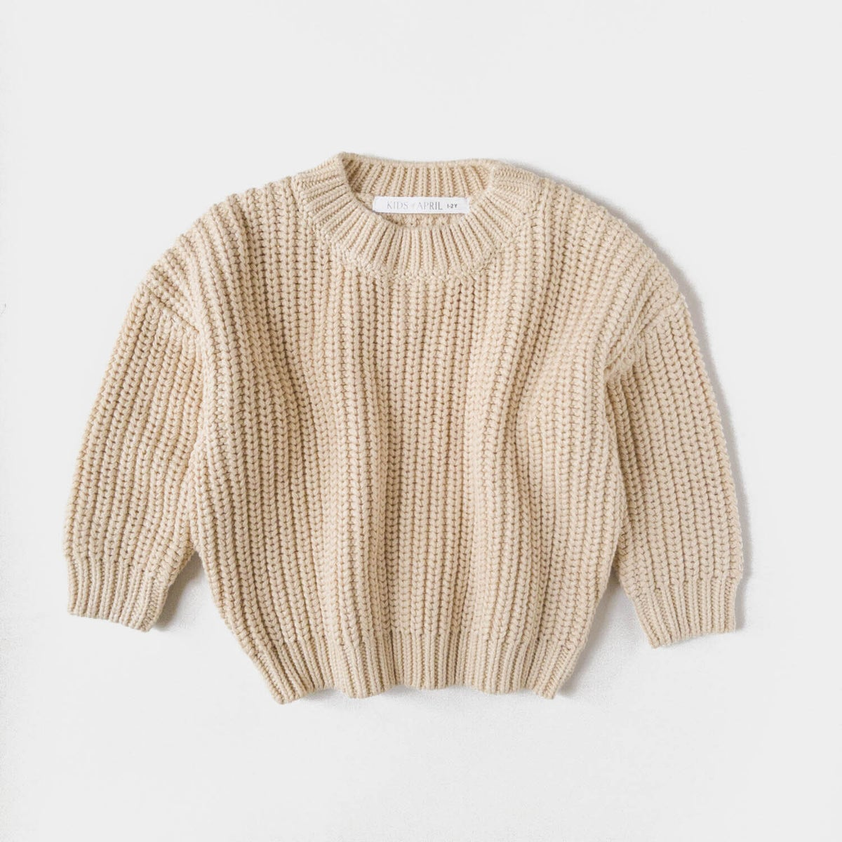Image of Kids of April Chunky Sweater Almond