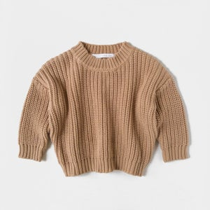 Image of Kids of April Chunky Sweater Toffee
