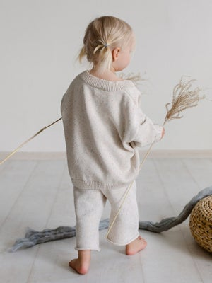 Image of Kids of April Rainbow Speckle Cardigan