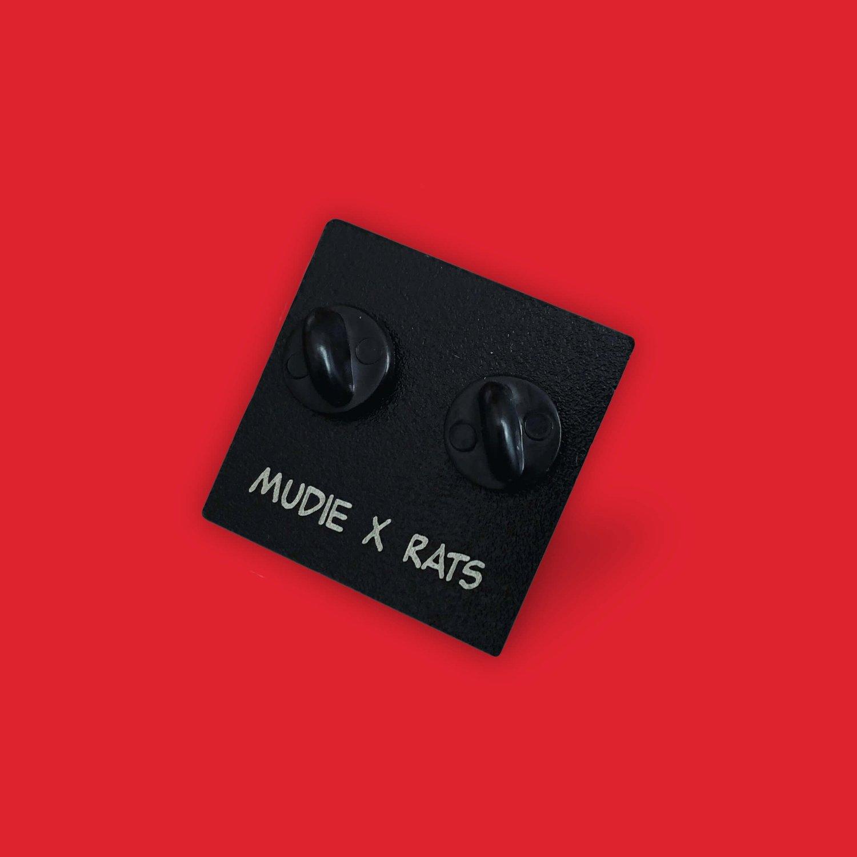 Image of Mudie X Rats - Triste Brown - Enamel Pins