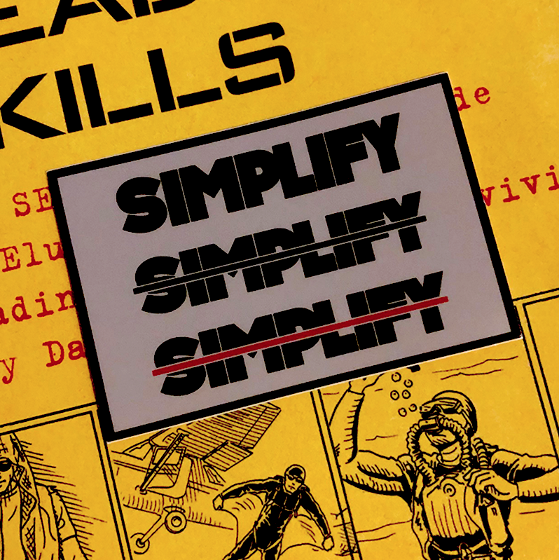 Image of  SIMPLIFY STICKER