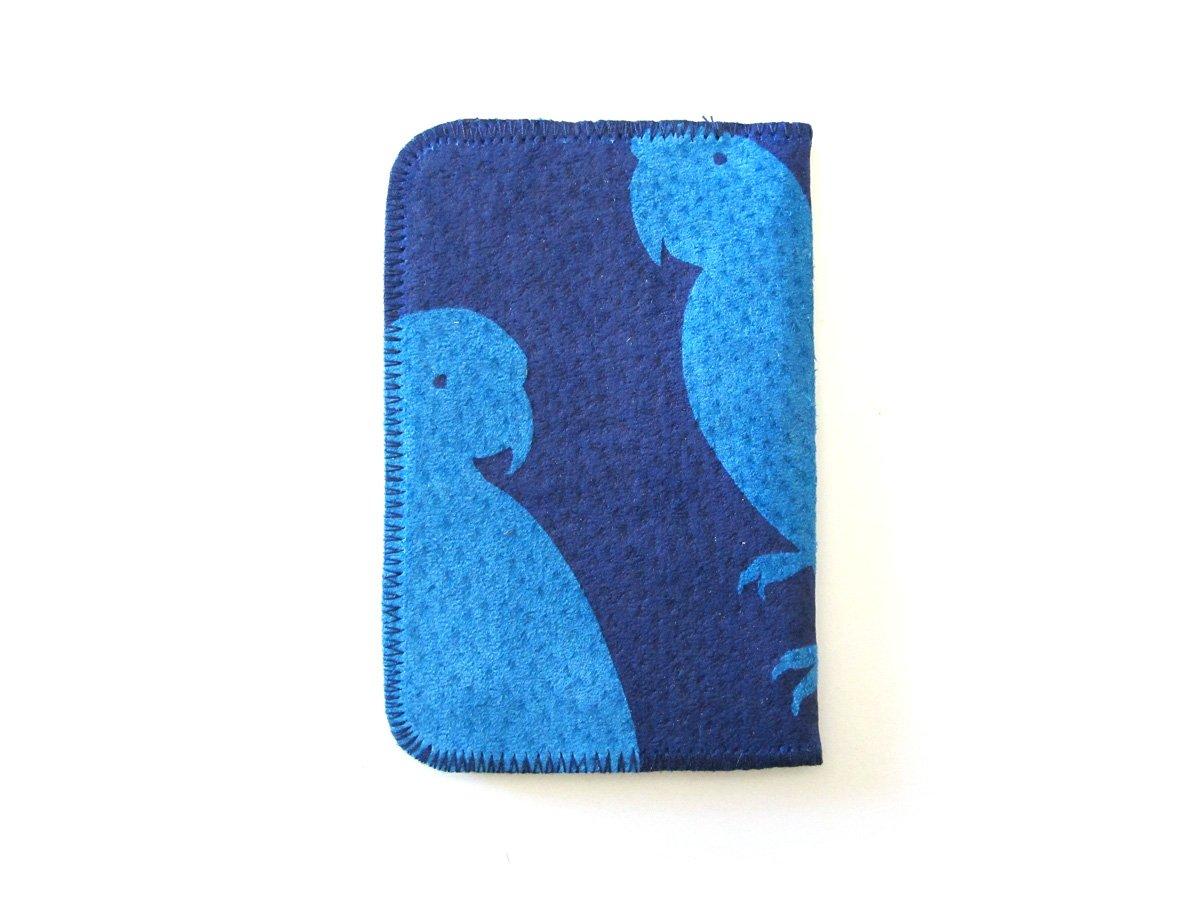 Image of Blue Parrots Card Holder