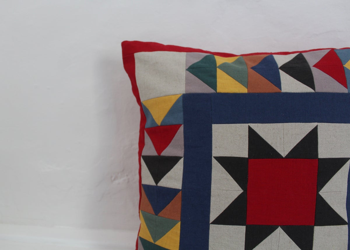 Image of Patchwork Star Cushion Pre-Order
