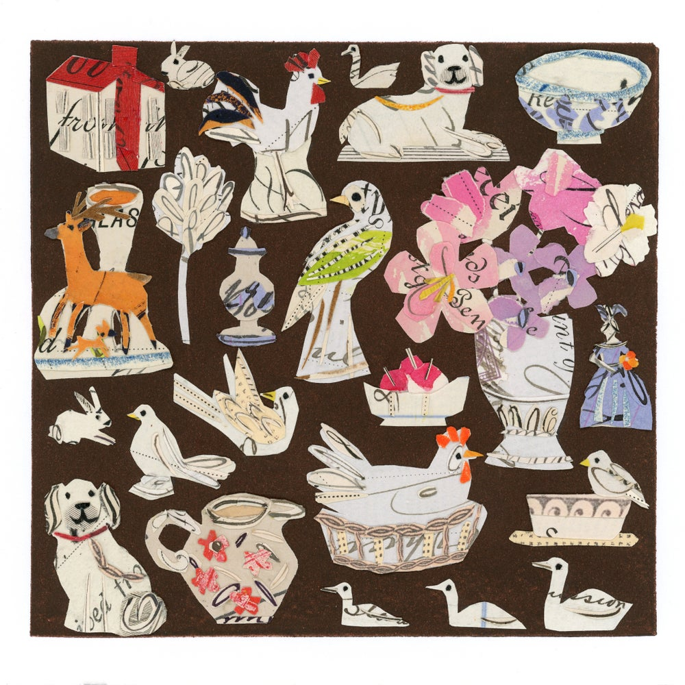 Image of Hens And Rabbits..... Giclée print