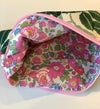 Liberty Lined Pink Roses Zipped Pouch