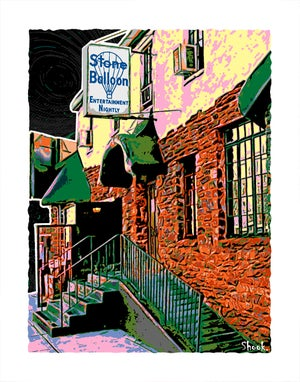 "Image of Stone Balloon Newark DE Giclée Art Print - 11"" x 14"""