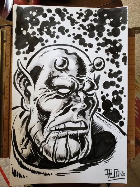 Image of Skillet portrait Original Art