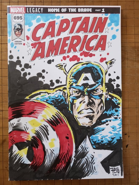 Image of Captain America sketch cover