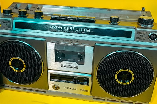 Image of PHONOLA EXPANDED STEREO 3820 (1982) BLUETOOTH BOOMBOX