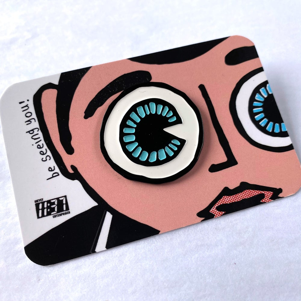 Image of 'Be Seeing You' Enamel Badge.
