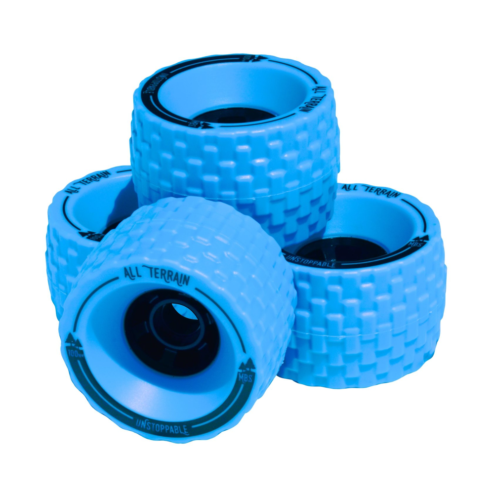 Image of MBS All-Terrain Skateboard Wheels - Blue
