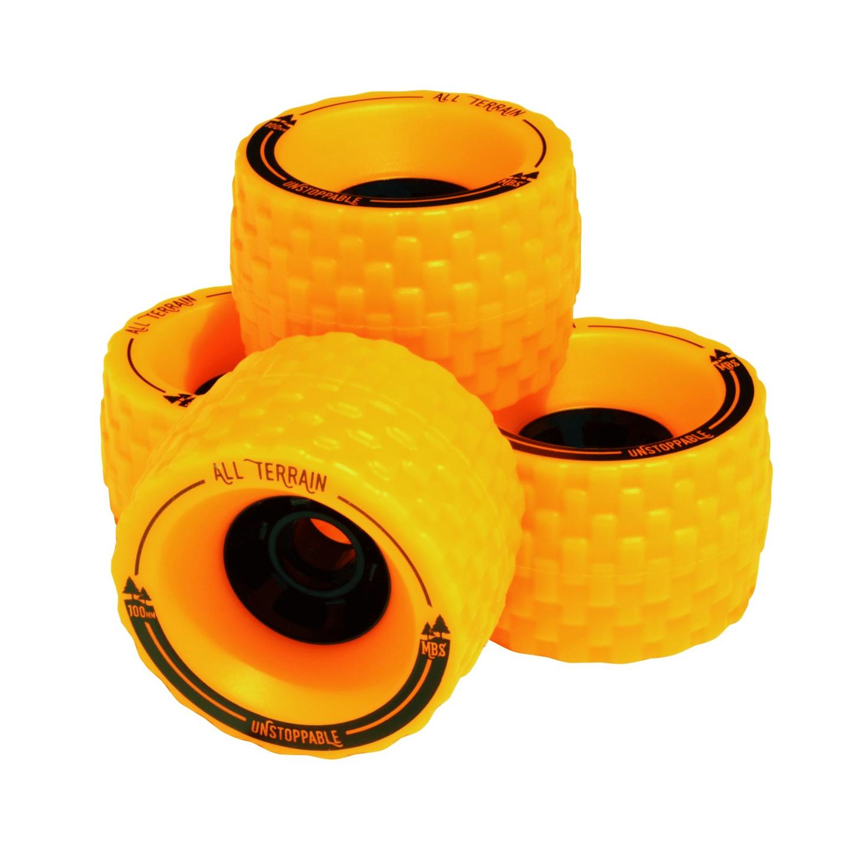 Image of MBS All-Tettain Skateboard Wheels - Orange