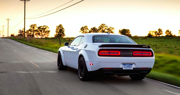 "Image of Dodge Challenger SRT Hellcat RedEye Rear Blackout ""DODGE"" emblem"