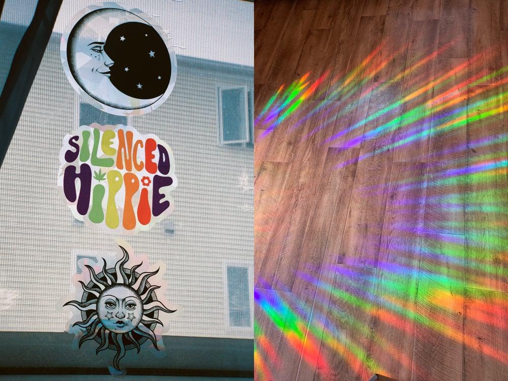 Image of RAINBOW SUNCATCHER WINDOW DECAL!! (3 pack)