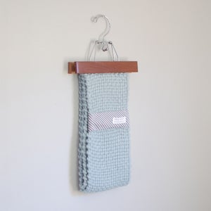 Image of handwoven loop scarf mint