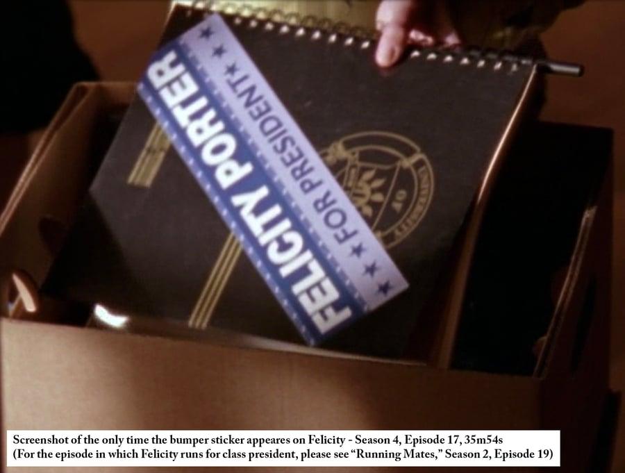 Image of Felicity Porter for President bumper sticker