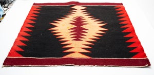 Image of Navajo Rug Circa 1900-1925, 21 inches by 19 inches, Ganado Red Textile Eye Dazzler Pattern