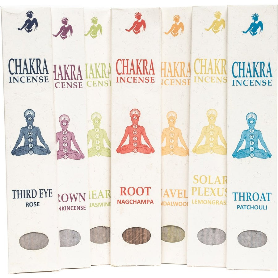 Image of Set of 7 Chakra Incense Sticks