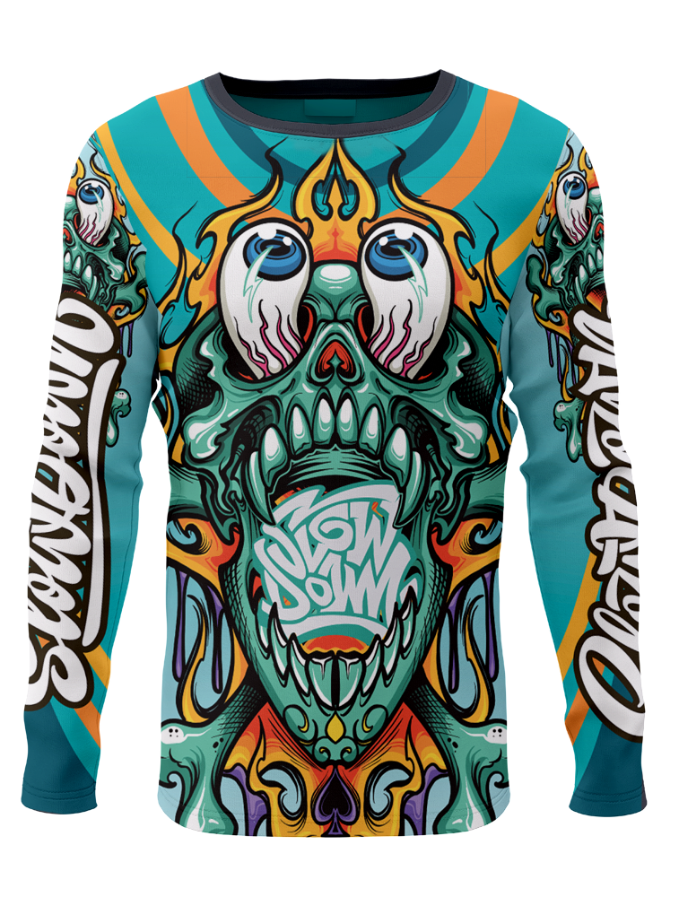 Slowdown Crazy Skull Jersey