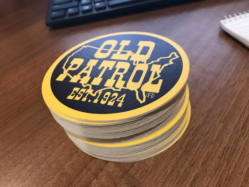 Image of OLD PATROL COASTERS (SET OF FOUR)