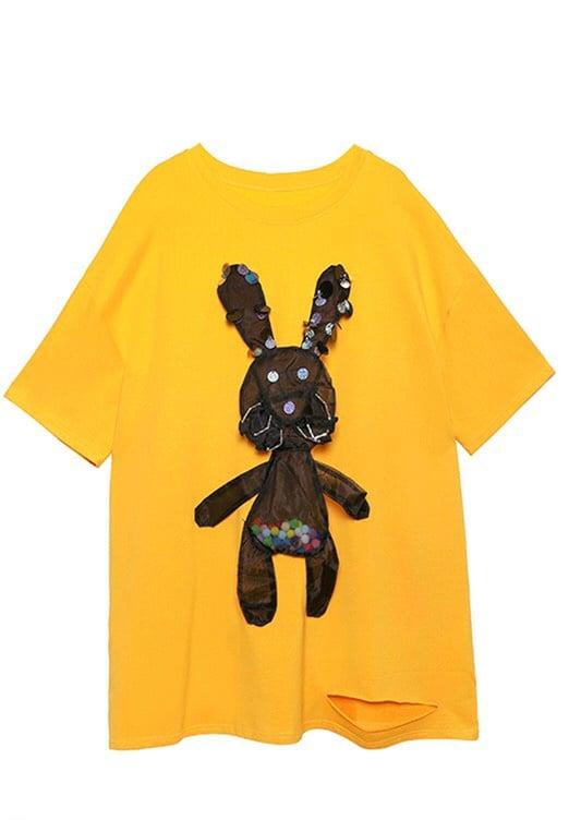 Image of Rabbit Oversized T-Shirt Dress