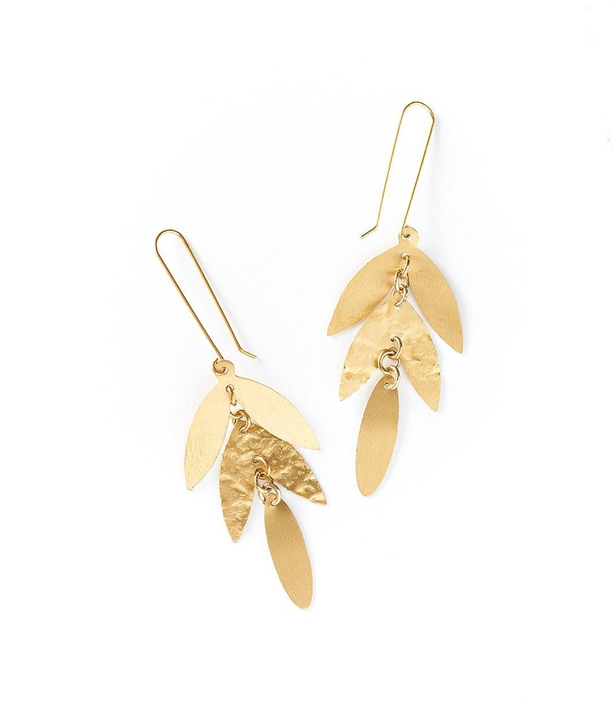 Image of Chameli Leaf Earrings