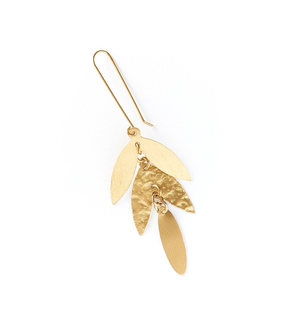 Image of Chameli Leaf Earrings
