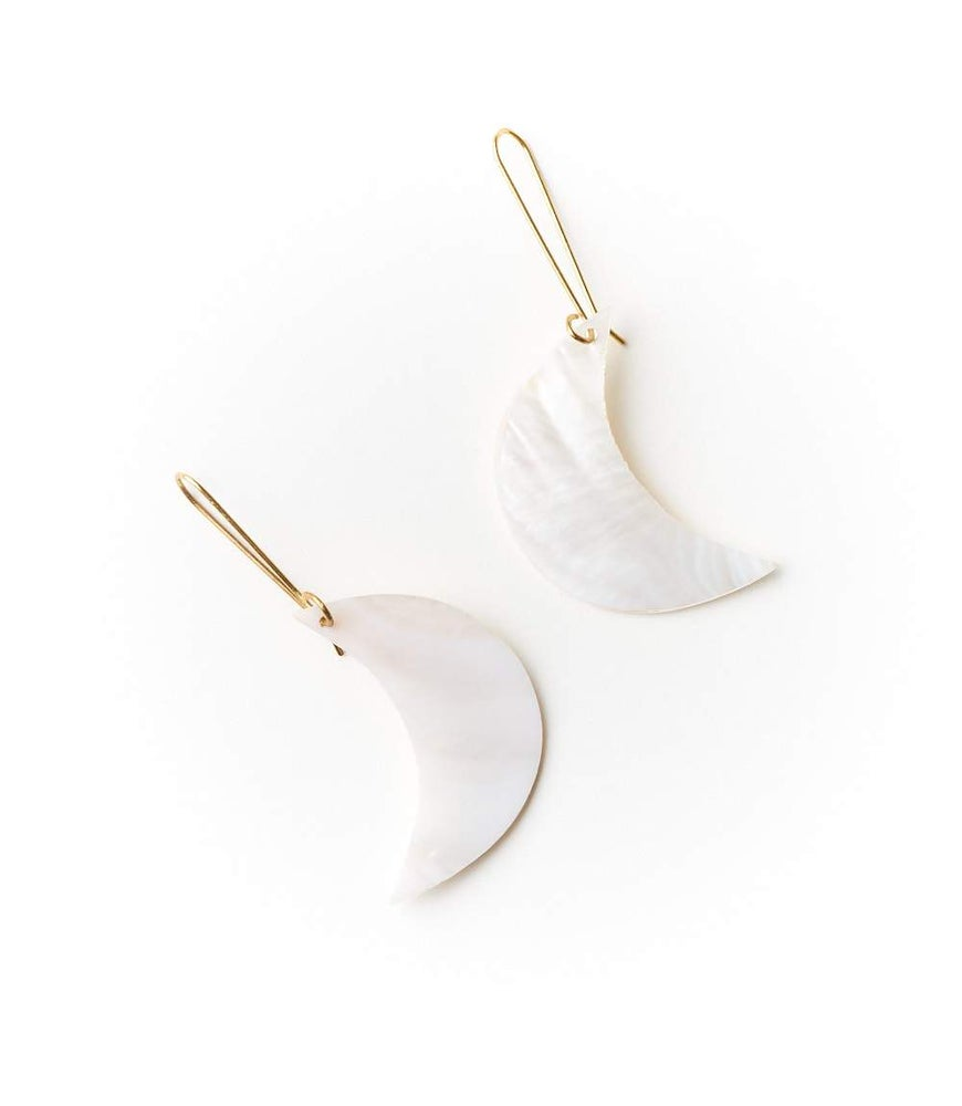 Image of Rajani Pearl Crescent Earrings