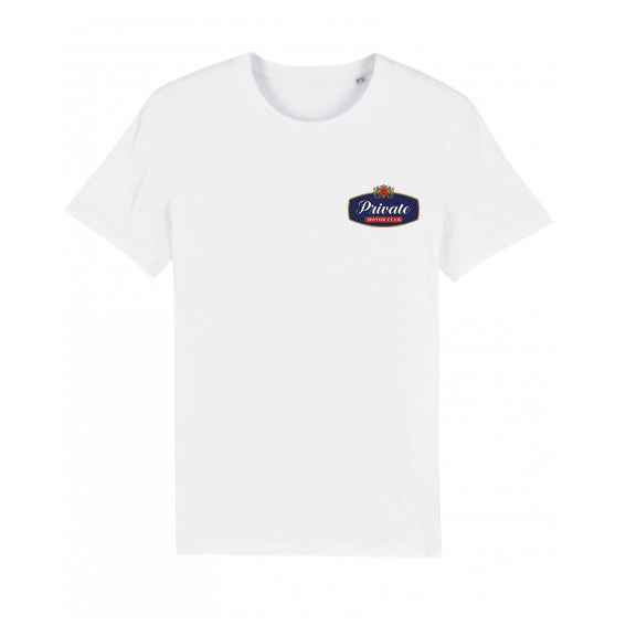 Image of PRIVATE RACING white tshirt