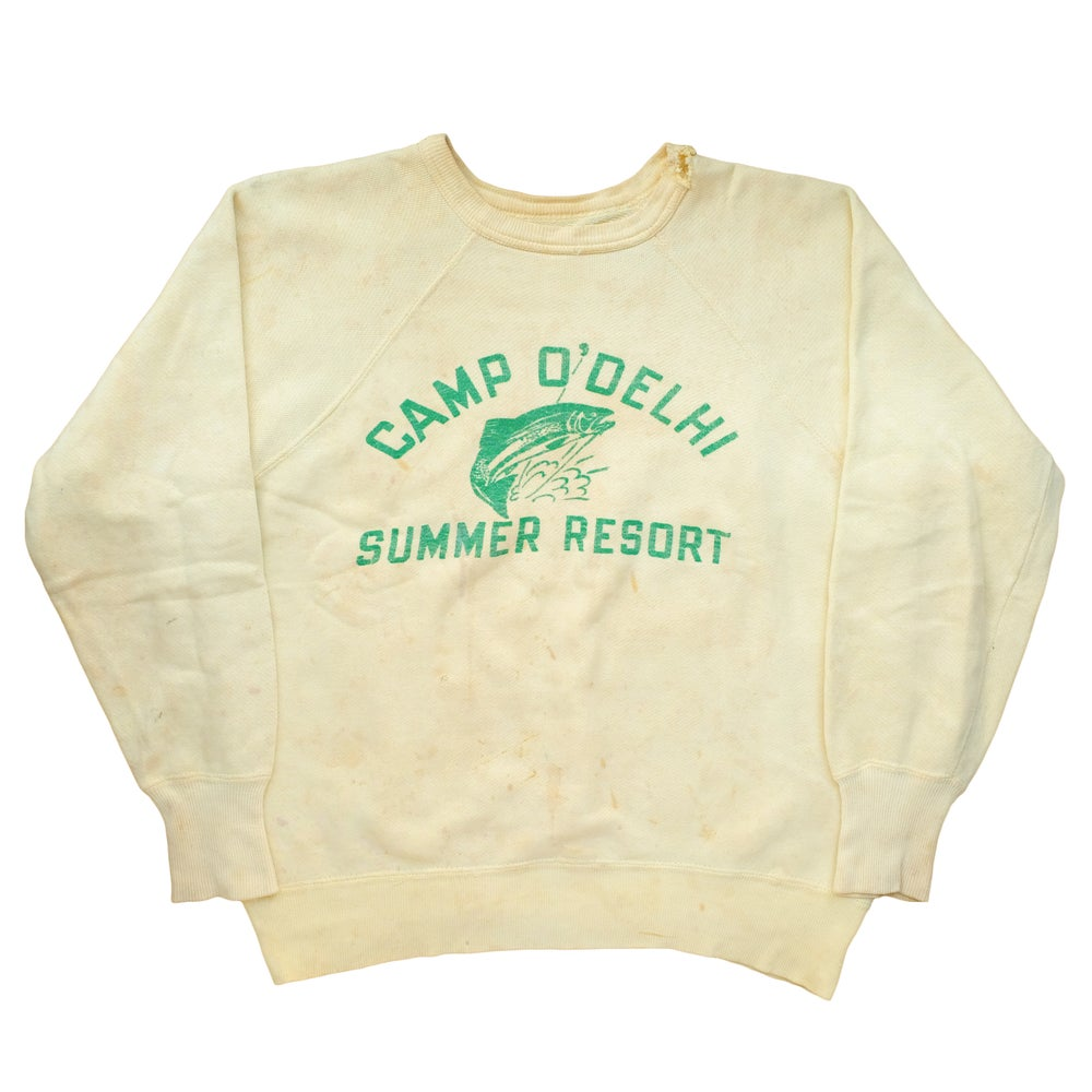Image of Vintage 1940's Camp O'Delhi Summer Resort Sweatshirt