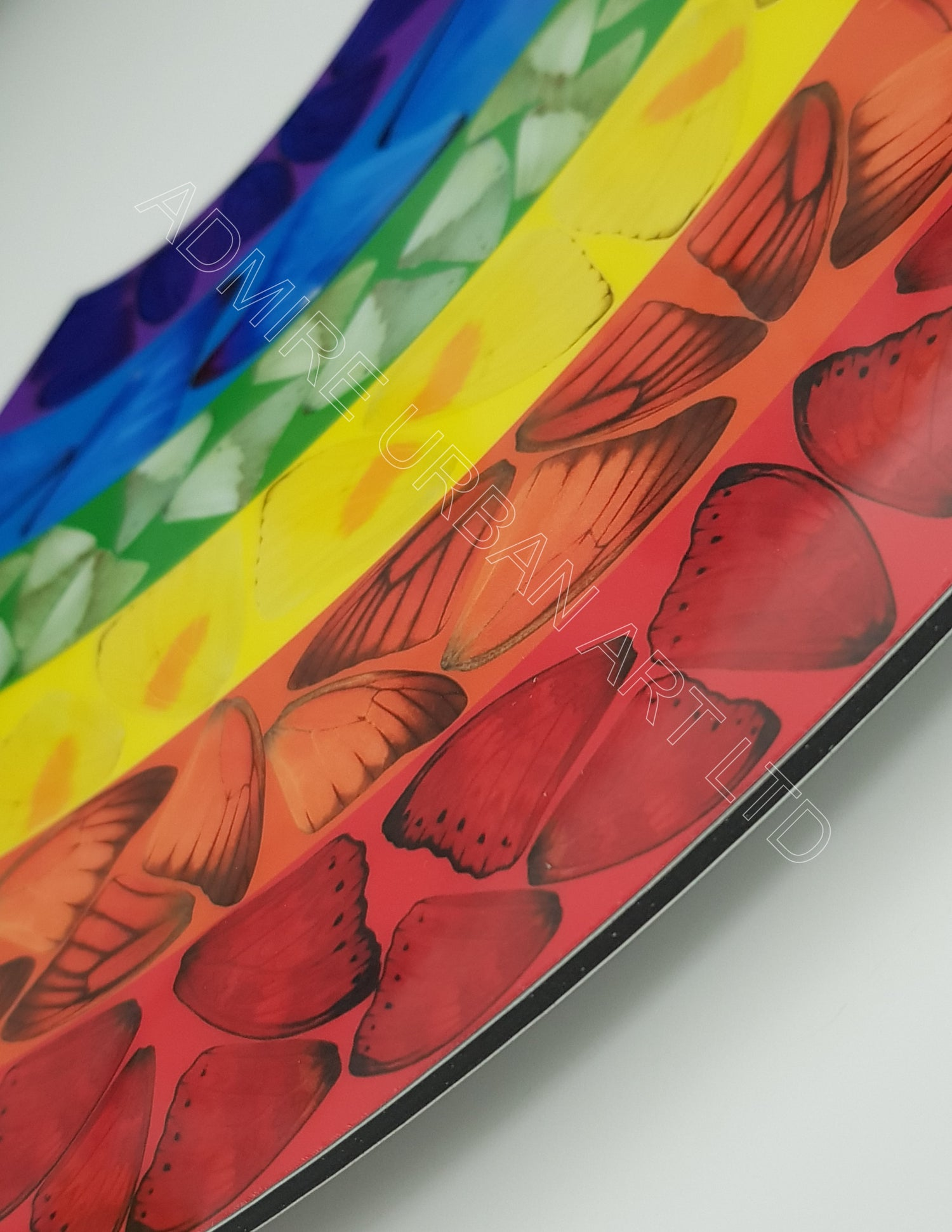 """Image of DAMIEN HIRST """"BUTTERFLY RAINBOW"""" - H7-2 - AS NEW IN ORIGINAL BOX - XL SIZE 42CM X 100CM"""