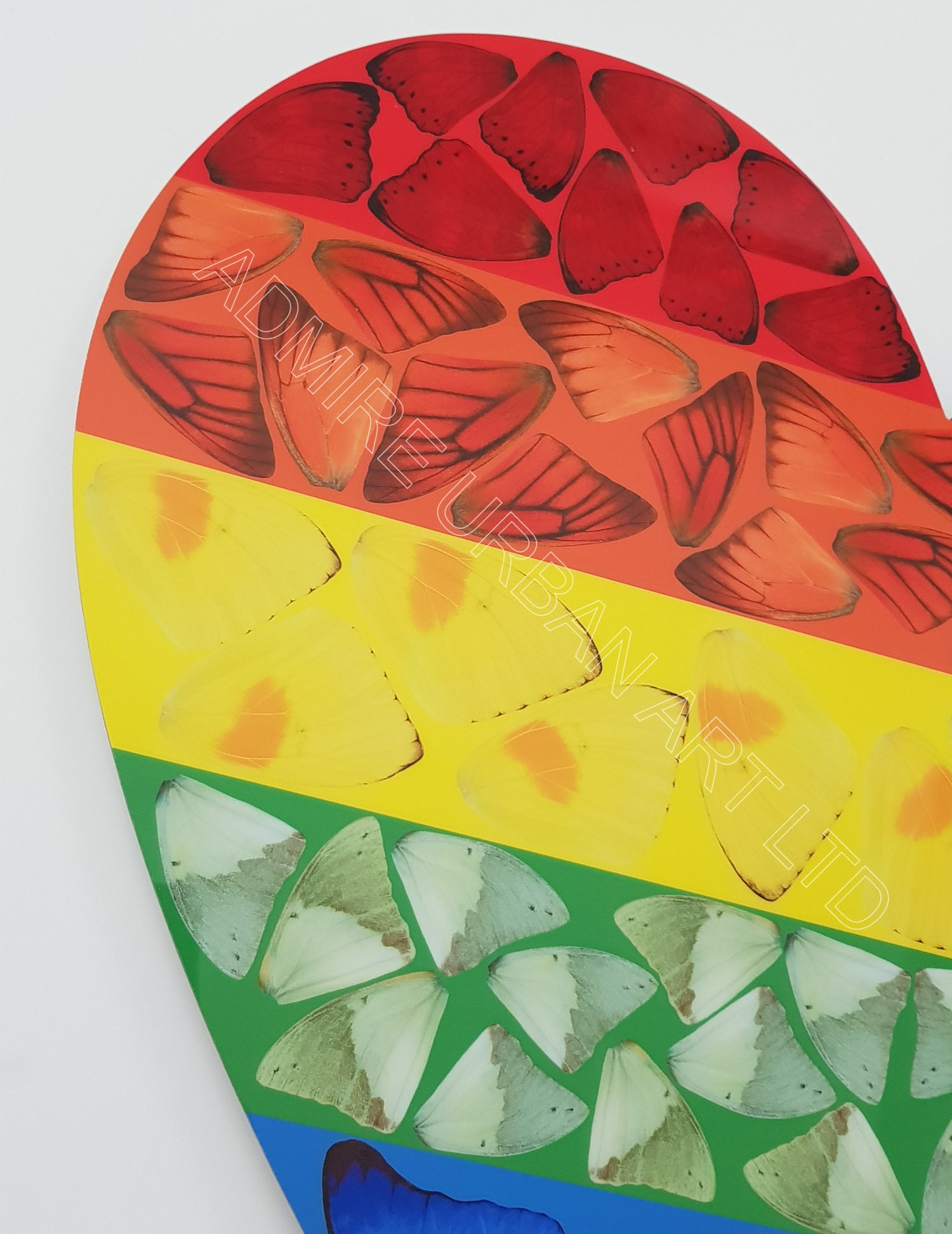 """Image of DAMIEN HIRST """"BUTTERFLY HEART"""" - H7-4 - AS NEW IN ORIGINAL BOX - XL SIZED 70CM X 72.7CM"""