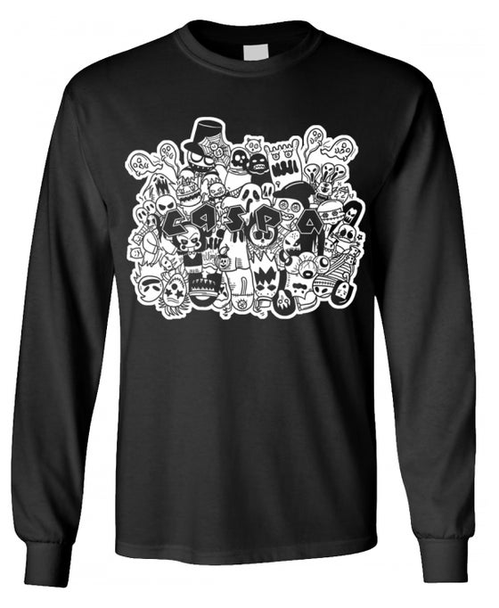 Image of Caspa Ghost Long Sleeve T-Shirt