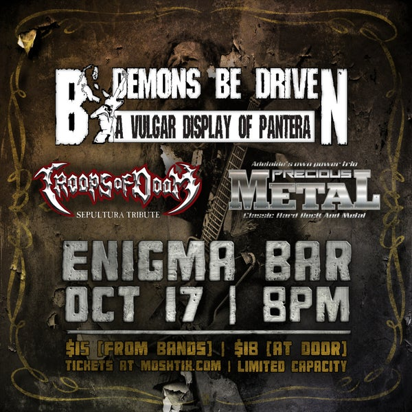 Image of E-Ticket to By Demons Be Driven, Troops of Doom & Precious Metal