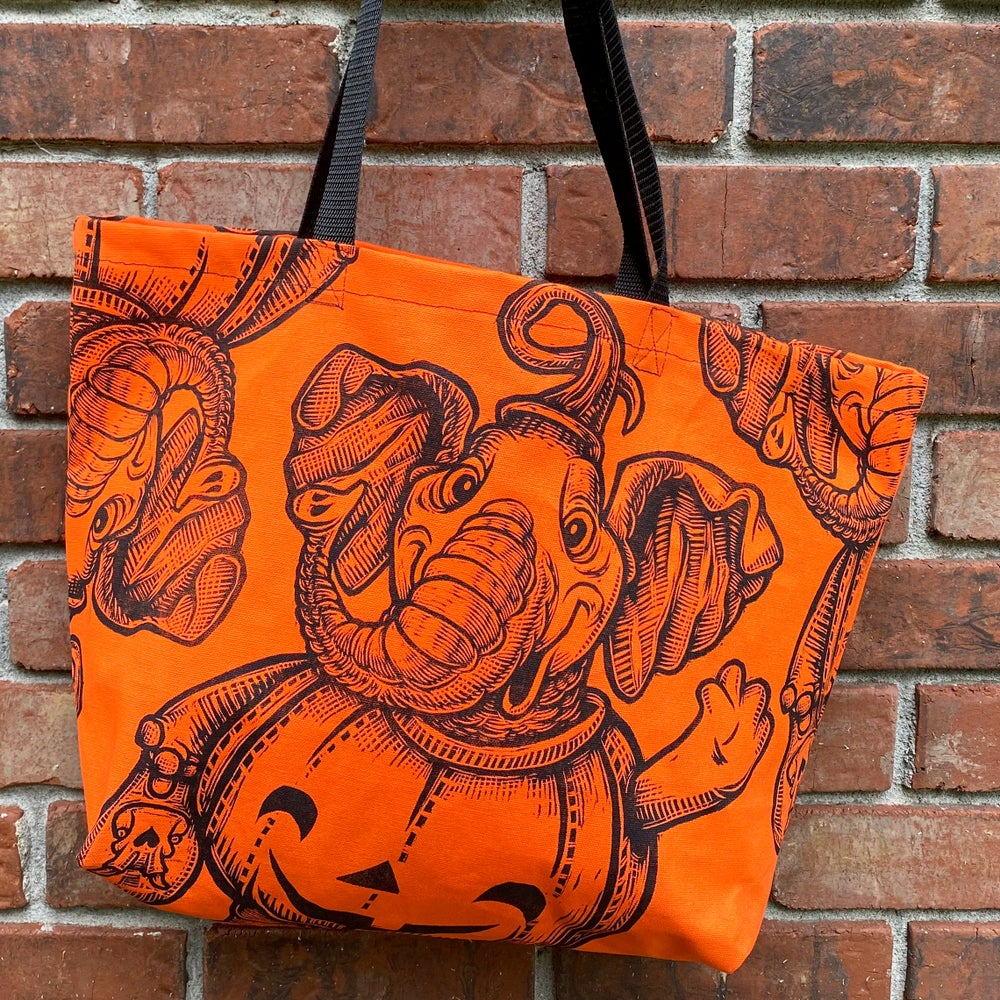 Trick-or-Treater tote bags