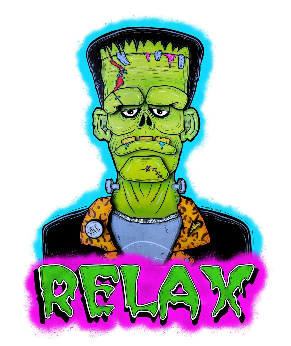 Frank Say RELAX Unisex Adult T-Shirt