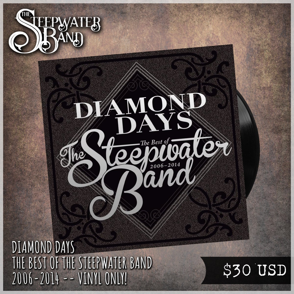 Diamond Days ~ The Best of The Steepwater Band 2006-2014 VINYL