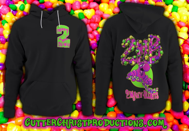 Image of 2 MANY BLUNTS NERD ROPE HOODIES (PREORDER SHIPS OCT 9TH)